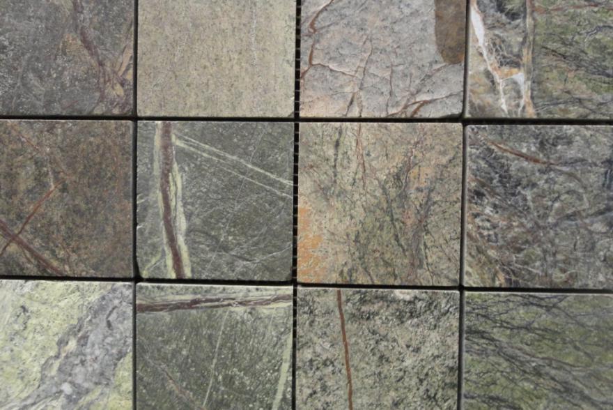Мозаика каменная - Сланец Forest green