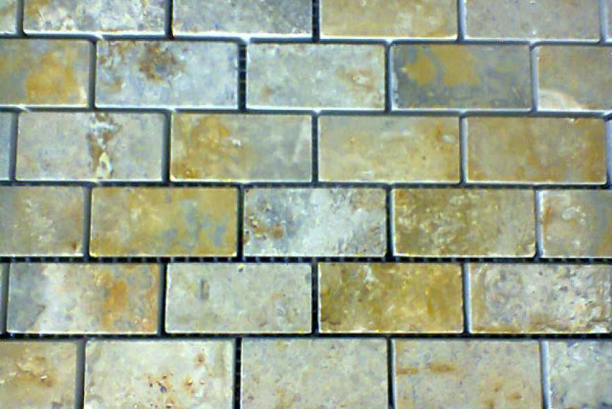 Мозаика каменная - Травертин зеленый